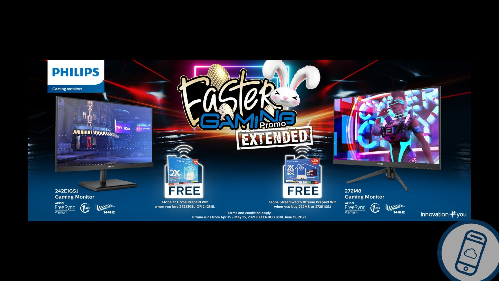 Philips Gaming Monitors Easter Promo Extended Header
