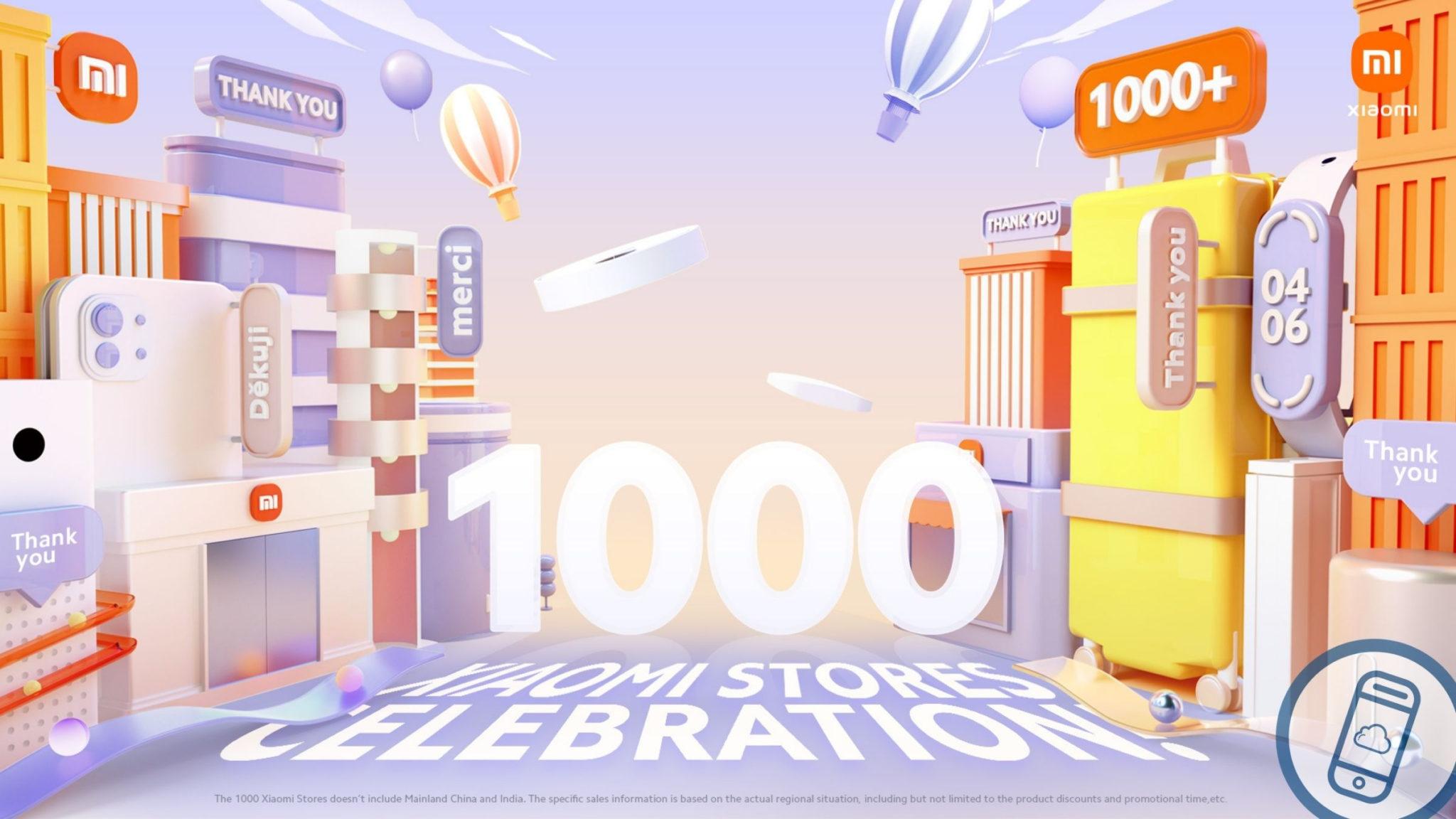 Xiaomi Celebrates 1000 Stores Event Header