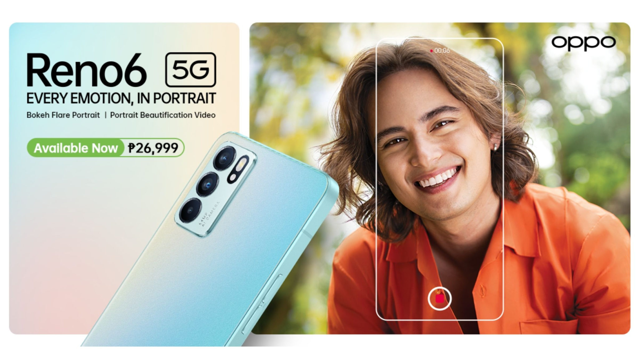 OPPO Reno6 5G Now Available Header