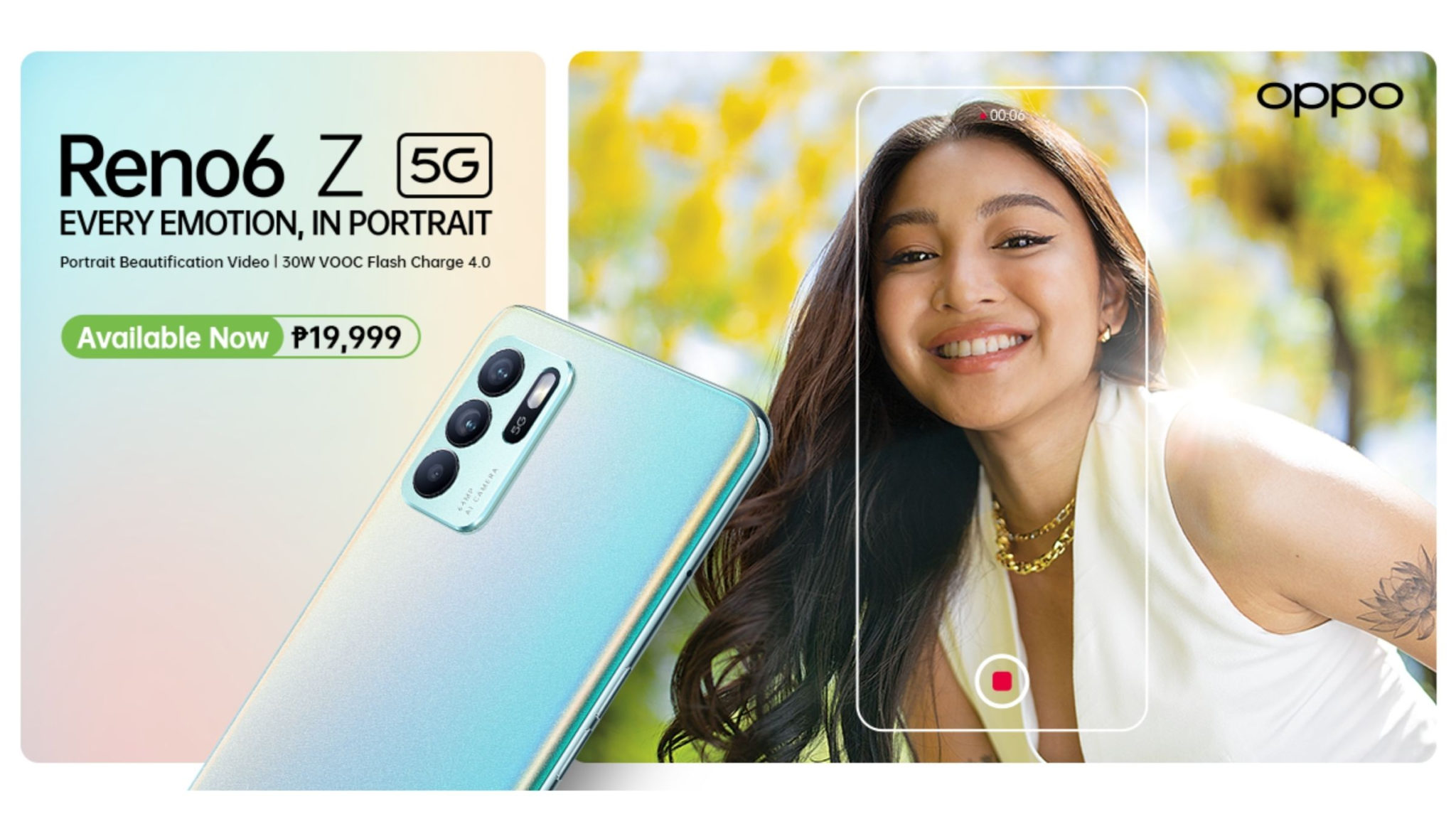 OPPO Reno6 Z 5G Now Available Header