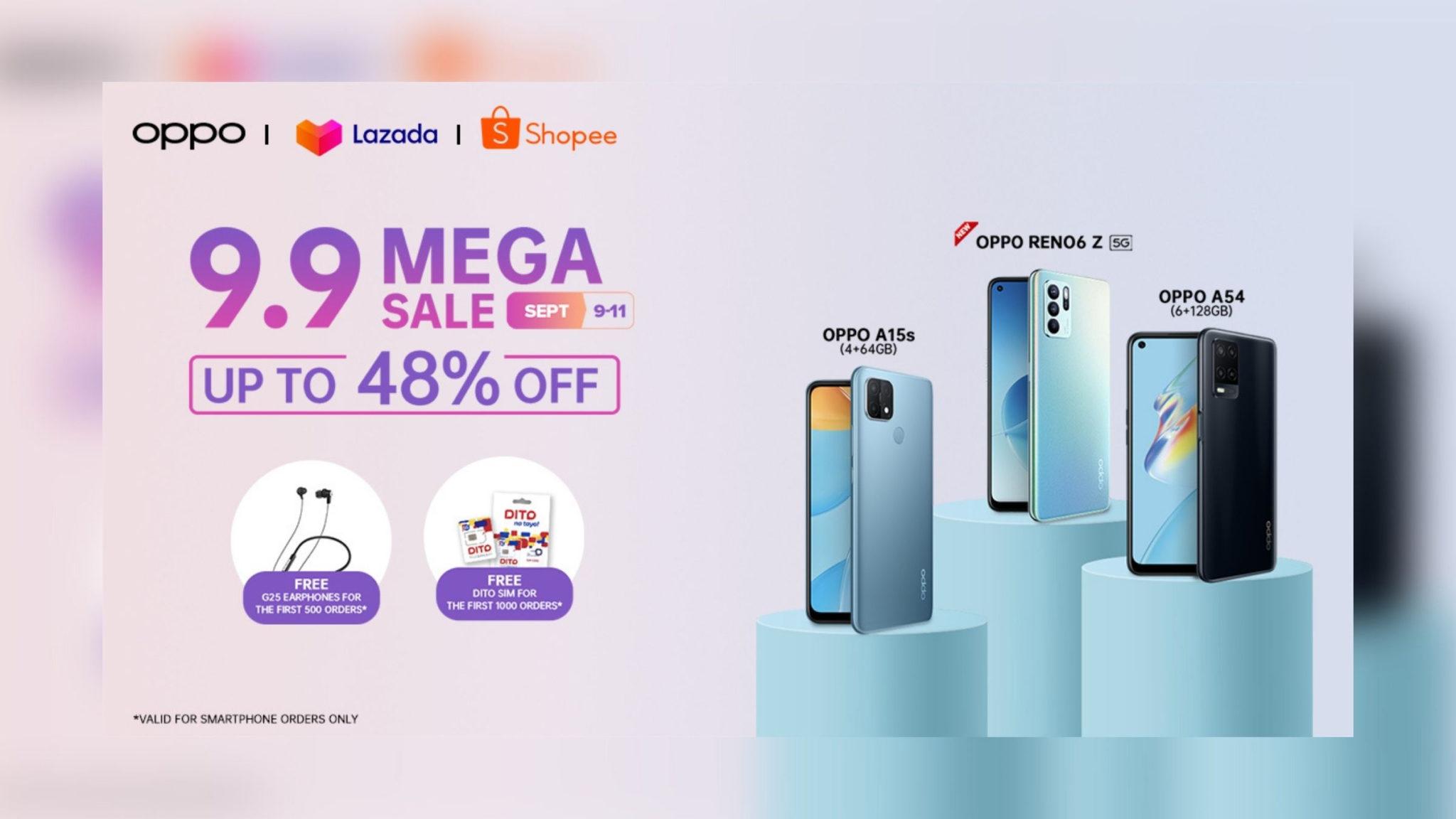 OPPO 9.9 Mega Sale Header