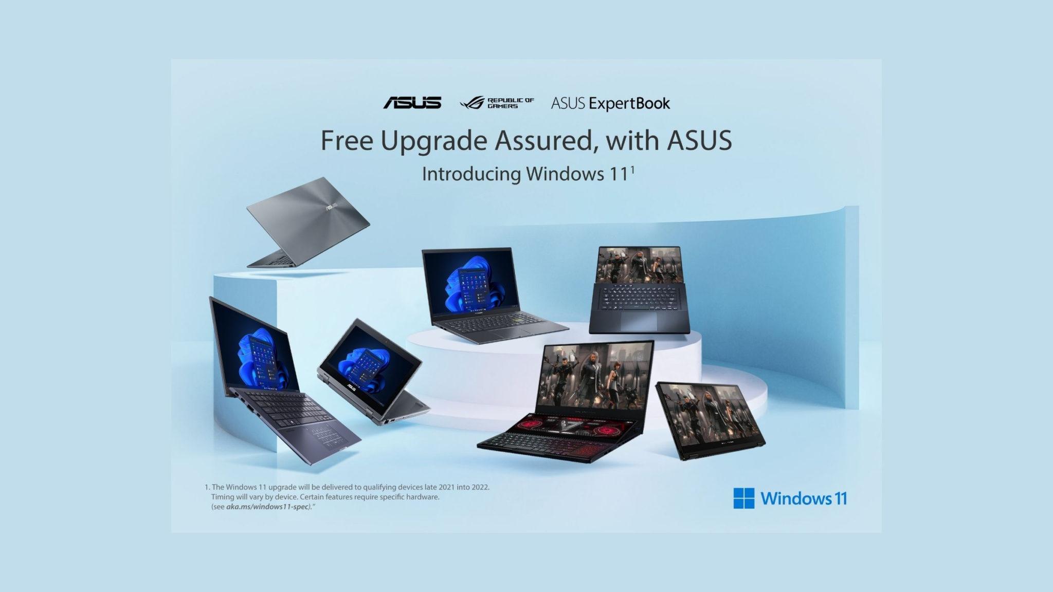 ASUS and ROG Laptops Get Windows 11 Header