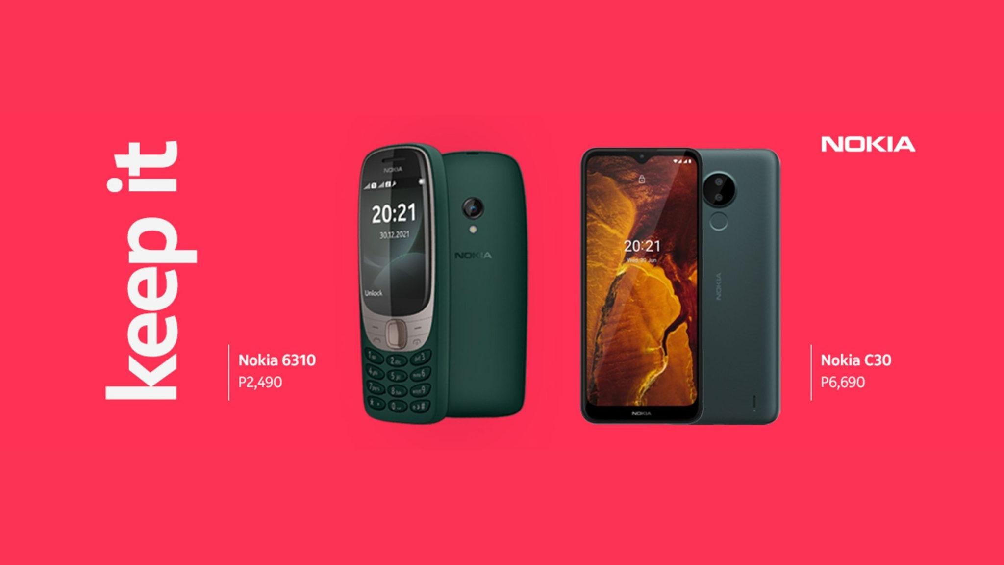 Nokia C30 and Nokia 6310 Philippines Header