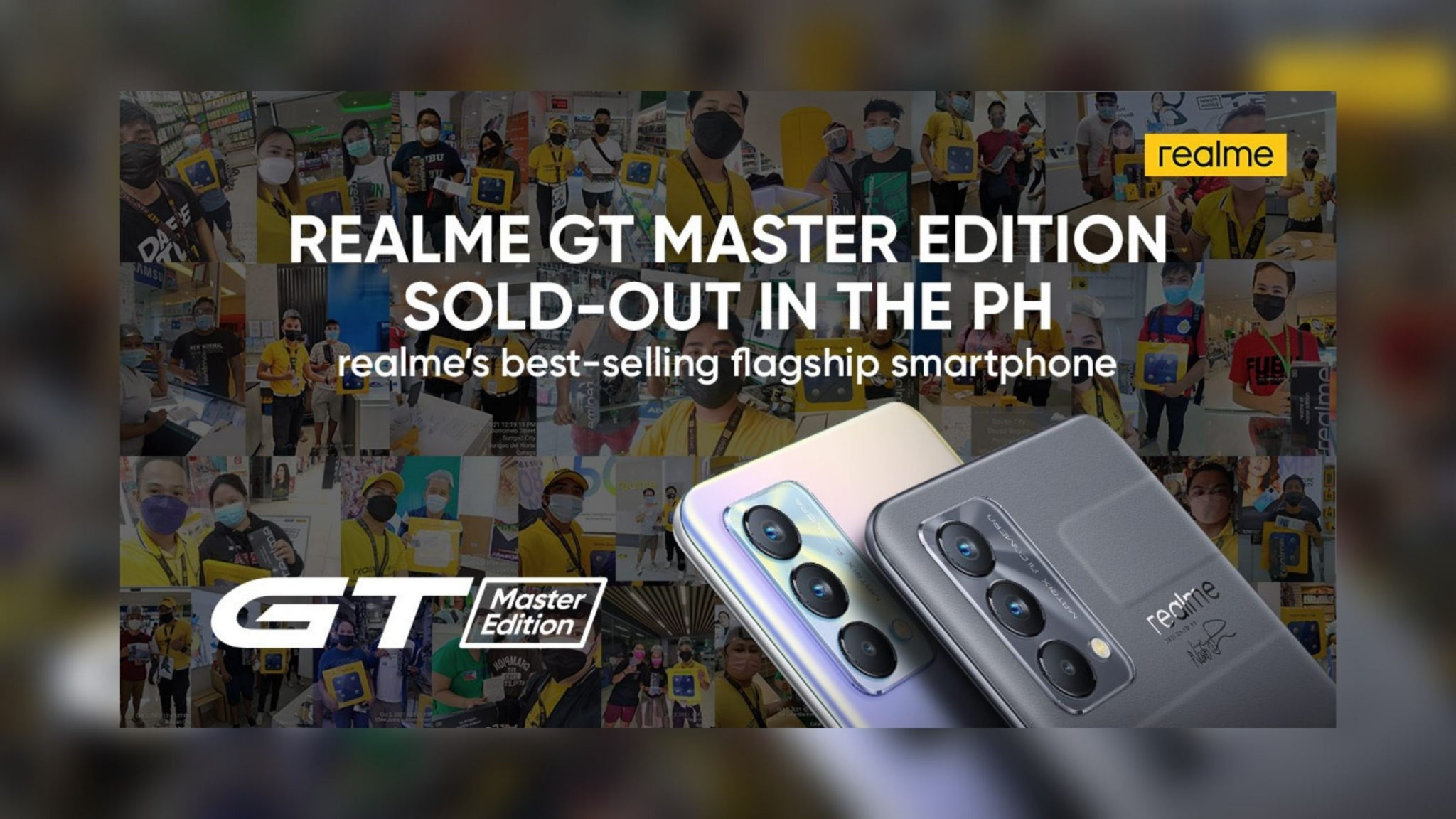 realme GT Master Edition Sold Out Header